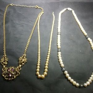 Vintage Pearl necklaces and Coro Jewelry